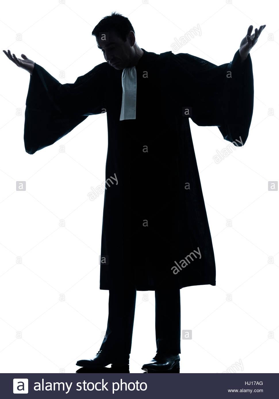 971x1390e Caucasian Lawyer Man Pleading Silhouette In Studio Isolated