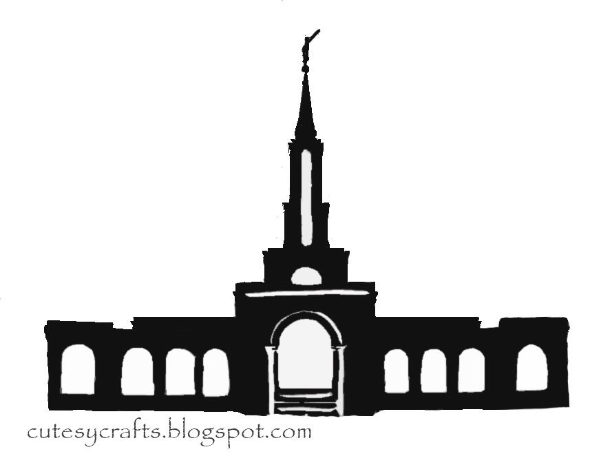 Lds Temple Silhouette at GetDrawings.com | Free for personal use Lds ...