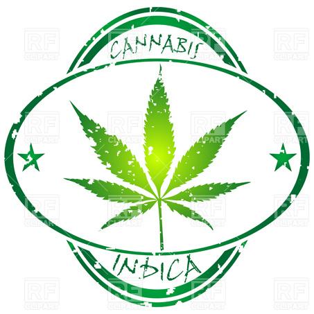 453x453 Marijuana Leaf Silhouette Seamless Pattern Royalty Free Vector