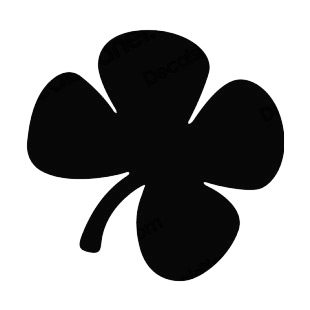 310x310 Four Leaf Clover Silhouette Plants Decals, Decal Sticker