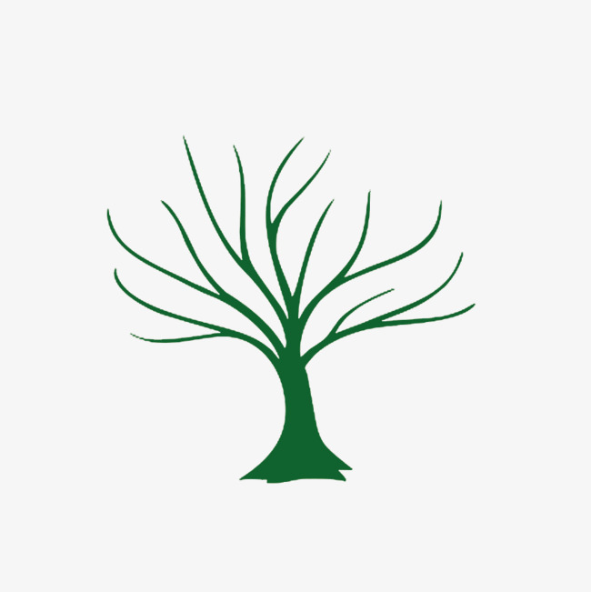 650x651 Leafless Tree Green Silhouette Decoration, Tree, Green, Sketch Png