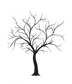 236x275 Leafless Tree Silhouette . To Paint In The Bathroom And Put Hooks