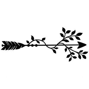300x300 Leafy Arrow Silhouette Design, Silhouettes And Arrow