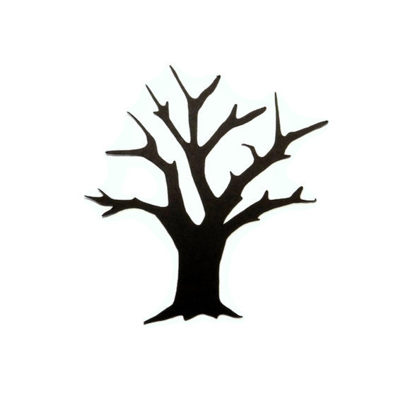 570x556 Tree Trunk Silhouette Clip Art