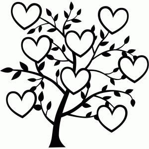 300x300 8 Heart Family Tree Silhouette Design, Family Trees And Silhouettes