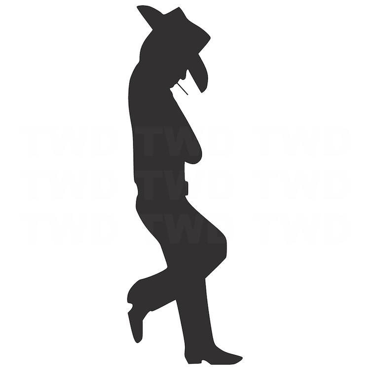 750x750 Leaning Cowboy Decal Sticker Cow Boy Stickers For Outlets