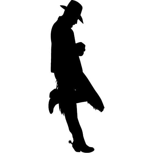 501x501 Leaning Cowboy Silhouette Plans Diy Free Download Wood Christmas