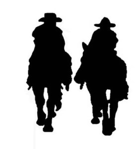 278x300 Pardners Silhouettes Cowboys, Silhouettes