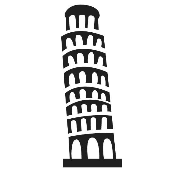 600x564 Leaning Tower Of Pisa Coloring Page Download Tower Of Hand Drawn