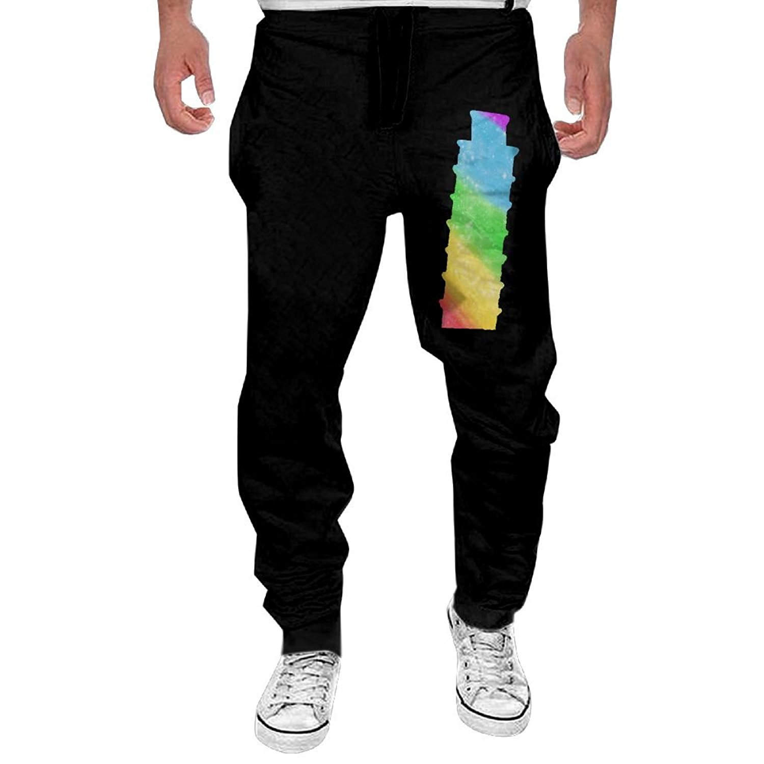 1500x1500 Leaning Tower Of Pisa Italy Men's Active Basic Fitness Sweatpants