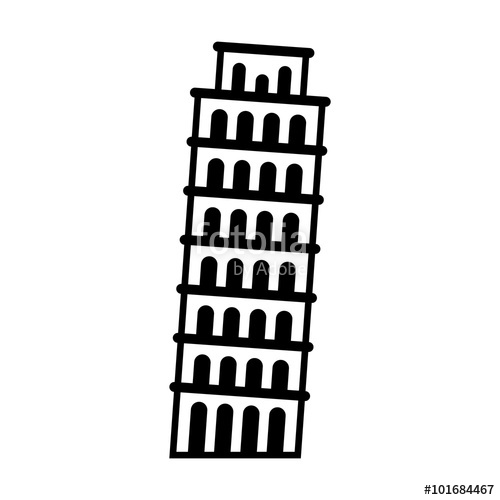 500x500 The Leaning Tower Of Pisa In Italy Flat Icon For Apps And Websites