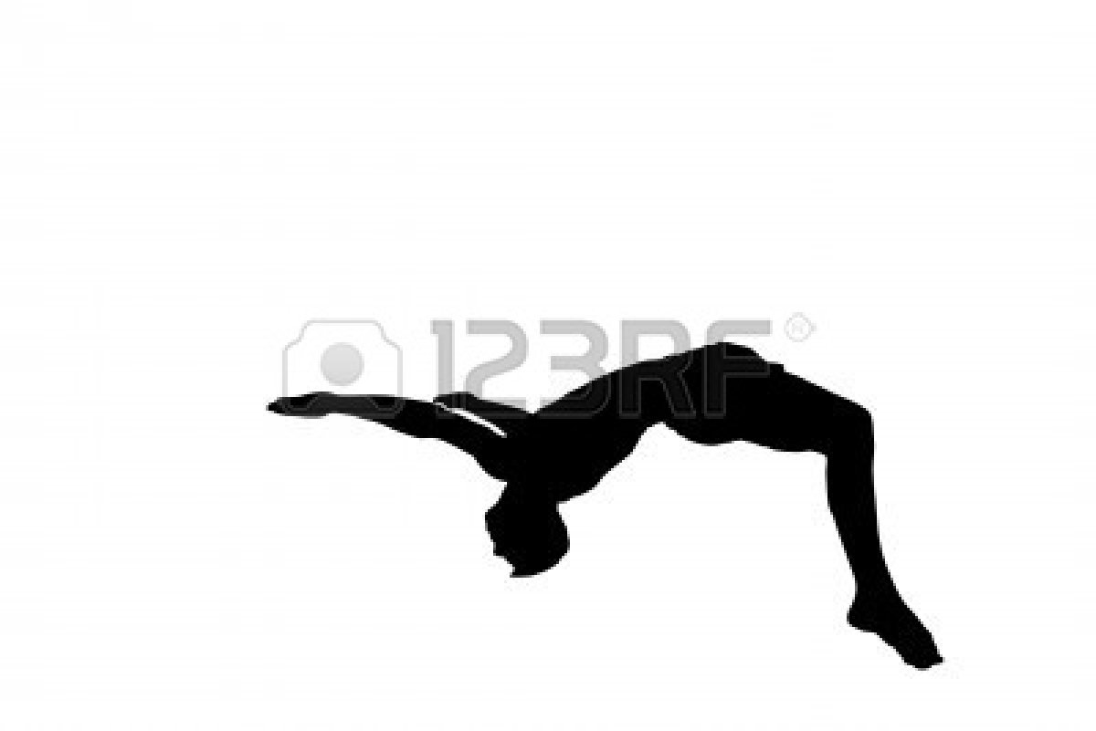 1200x801 Gymnastics Clipart Black And White Leap