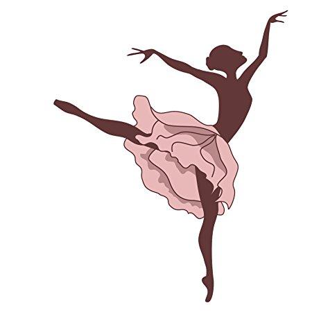 463x463 Ballerina Echappe Saute Leap Silhouette In Pink Tutu