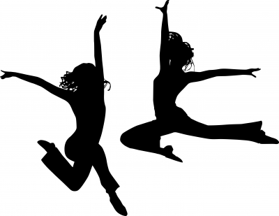 400x309 Dance Silhouette Leap. Gymnastics Leotard Girls Mystique