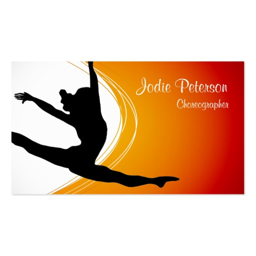 512x512 Dance Name Card Business Card Templates Bizcardstudio