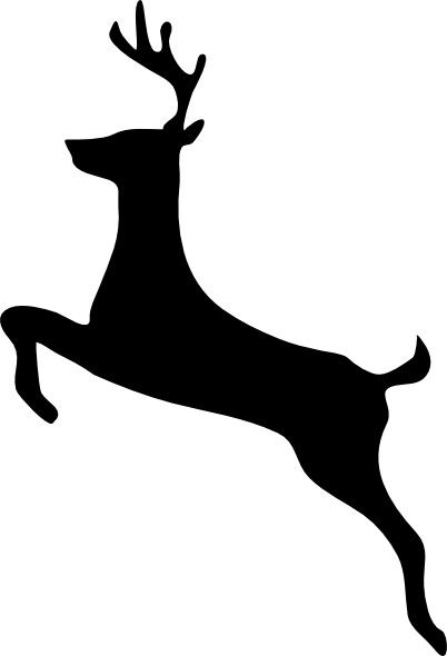 402x590 Deer Silhouette. Tattoos Silhouettes, Stenciling