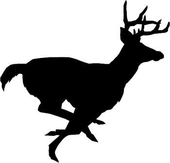 350x335 Drawn Buck Running Deer