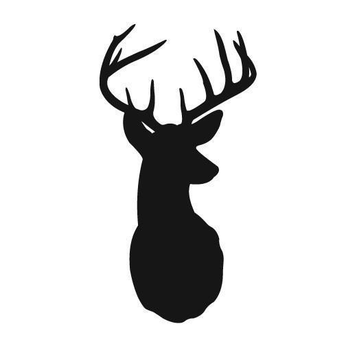 504x504 Free Deer Head Silhouette Clip Art