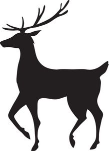 218x300 Free Reindeer Clipart Image Reindeer Silhouette Homemade