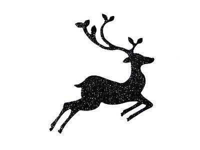 400x300 8 Christmas Leaping Deerreindeer Die Cuts, Br. Any Colourcard