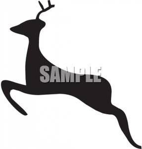 287x300 Of A Leaping Deer Clipart Picture
