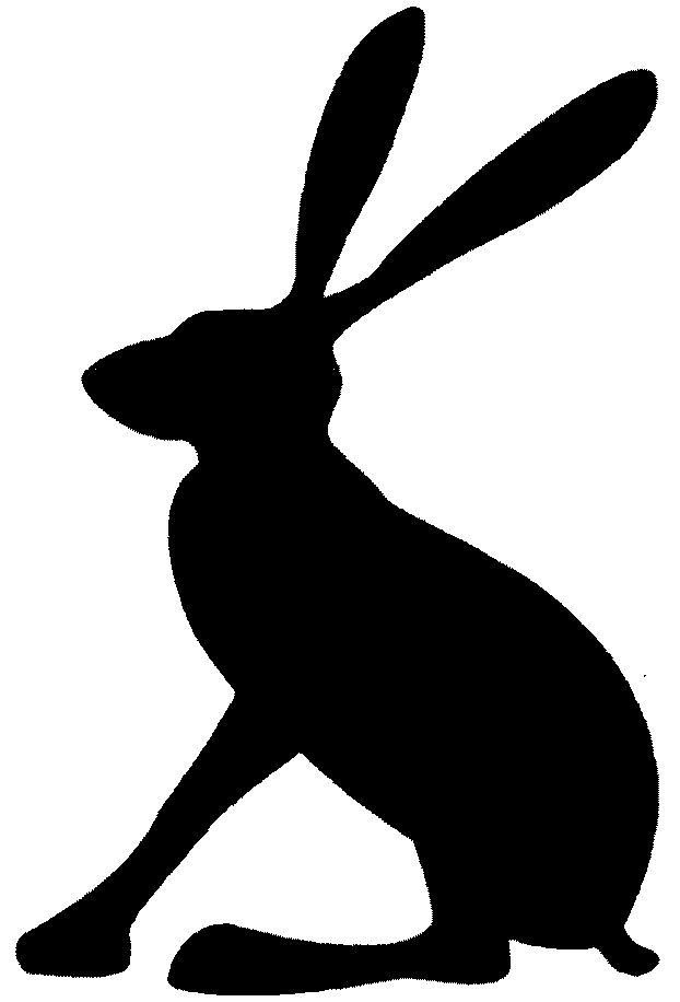 622x916 Image Result For Hare Silhouette Witraze Przedszkole