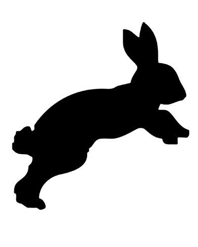 400x500 Items Similar To Rabbit Silhouette Bunny Digital Stamp Hare No