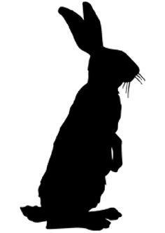 236x333 Standing Rabbit Silhouette