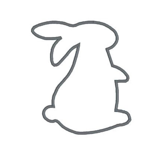 570x517 Embroidery Applique File Design Pattern Bunny Rabbit