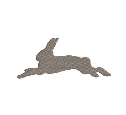 431x394 Embroidery File Design Pattern Leaping Bunny Rabbit Silhouette