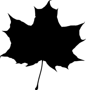 285x298 Maple Leaf Silhouette Clip Art