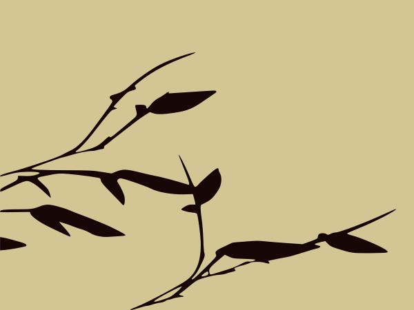 600x450 Bamboo Leaves Silhouette Clipart