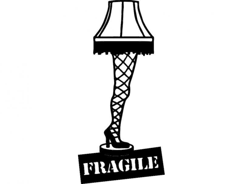 Leg Lamp Silhouette At Getdrawings Com Free For Personal
