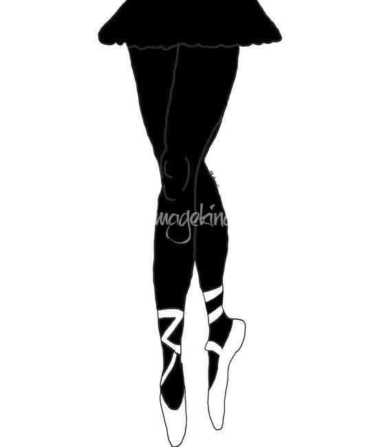 564x650 Ballerina Legs Silhouette By Kate Farrant