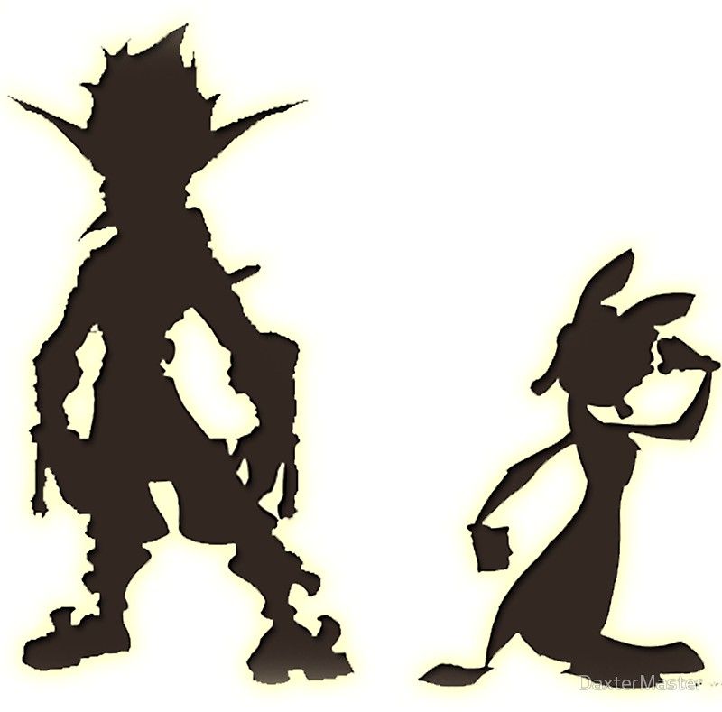 800x789 Jak And Daxter The Precursor Legacy Silhouette Stickers By