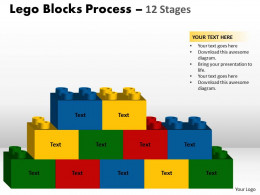 260x195 Lego Blocks Process 12 Stages Style 2 Powerpoint Slides And Ppt