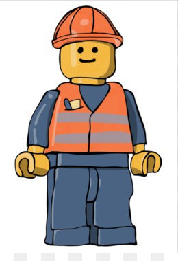 260x380 Lego Construction Worker Clipart