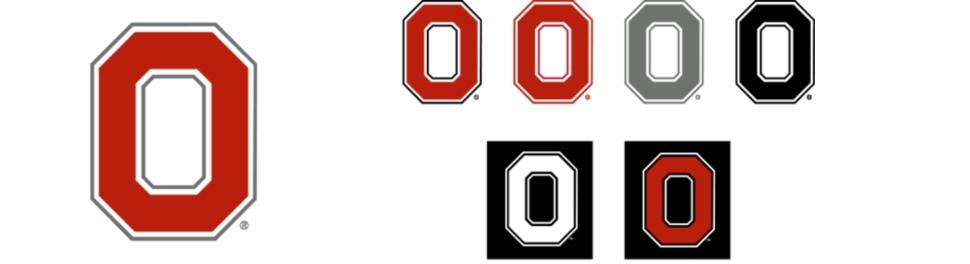 970x264 Ohio State Block O Clipart