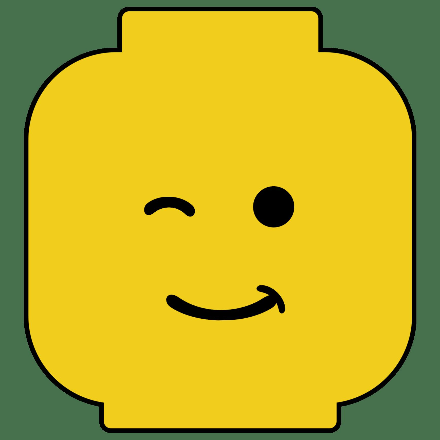 1736x1736 Lego Man Face Template
