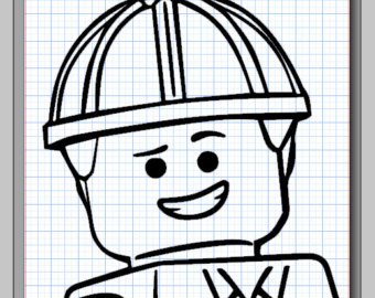 340x270 Lego Movie Character Cameo Silhouette File With Emmet Wild