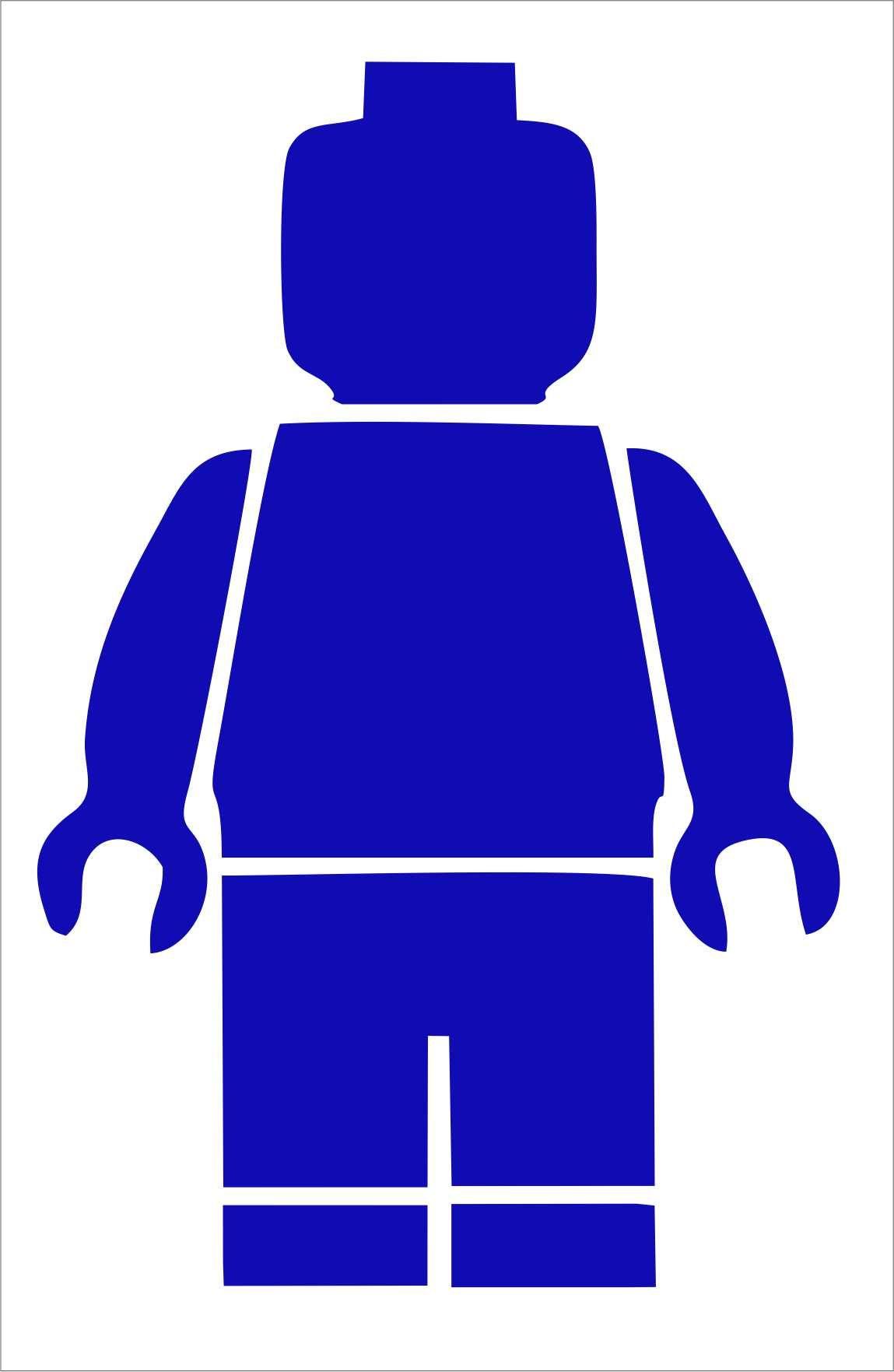 1149x1763 Muursticker Lego Minifig Legos Babe Lego