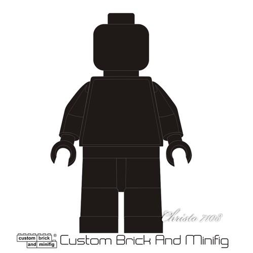 499x500 Custom Brick And Minifig