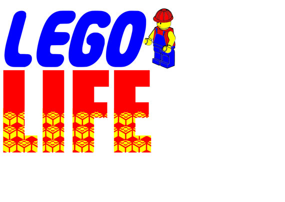 570x403 Lego Life Cutting File Svg. Silhouette , Cricut Etc. Lego , Blocks