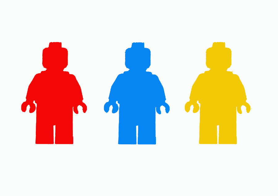 900x636 Lego Man Colour Silhouette By Jennatrixx