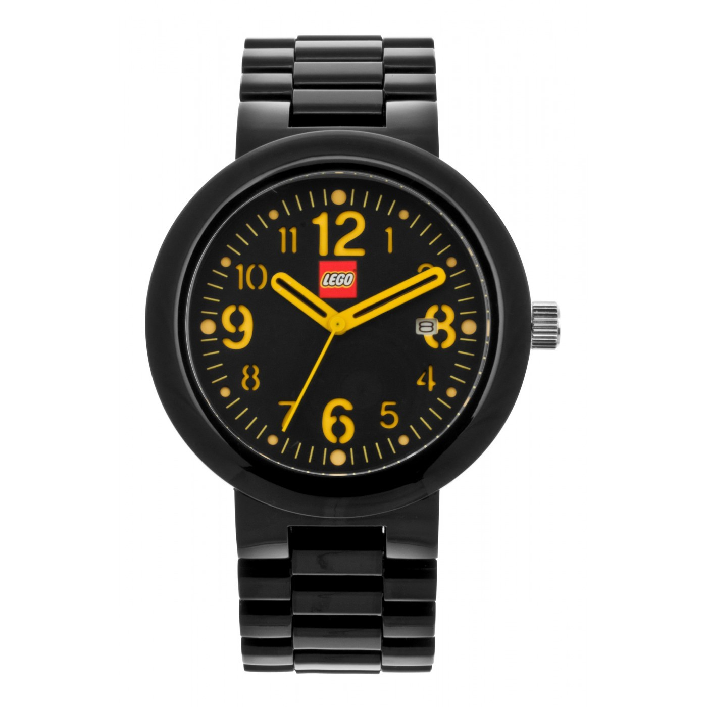 1400x1400 Lego Silhouette Black Adult Watch