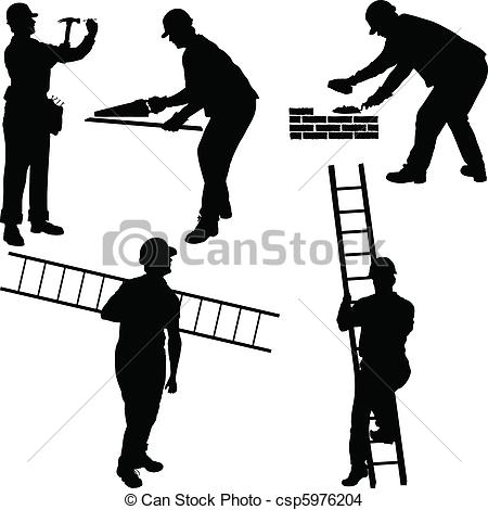450x470 Worker Lego Man Clipart Silhouette