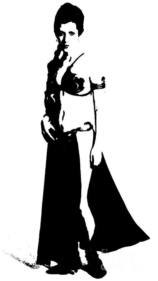 508x900 Princess Leia Painting By Saundra Myles