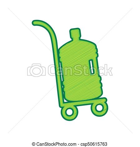 450x470 Plastic Bottle Silhouette With Water. Big Bottle Of Water