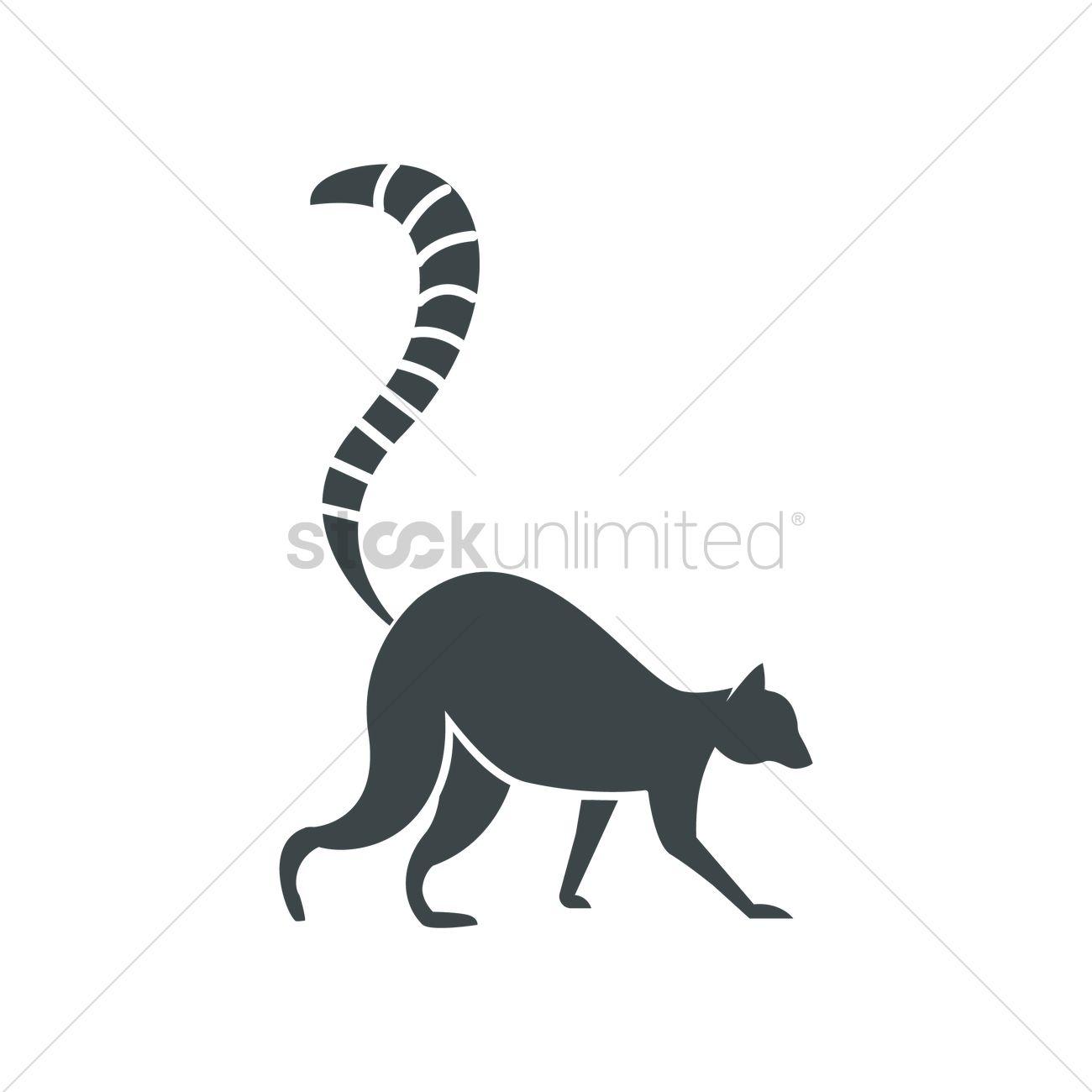 1300x1300 Lemur Vector Image