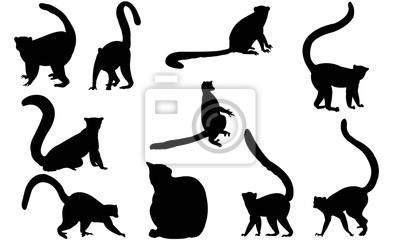 400x240 Lemur Silhouette Graphiques Vectoriels Stickers Pc Portable